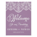 Lilac Brocade Lace Wedding Poster