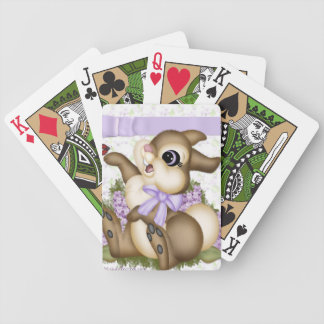 Lilac Bunny Playing Cards