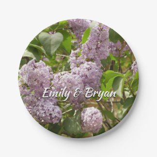 Lilac Bush Beautiful Purple Spring Flowers Paper Plate
