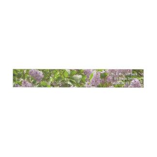 Lilac Bush Beautiful Purple Spring Flowers Wrap Around Label