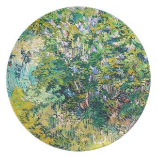 Lilac Bush by Vincent Van Gogh painting Plate