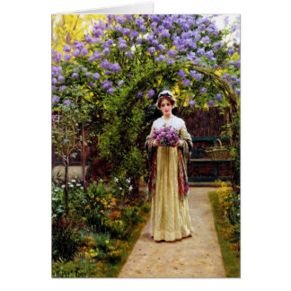 LIlac by Edmand Blair Leighton Card