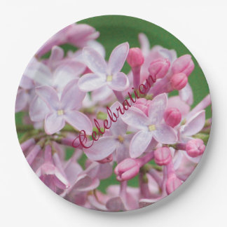 Lilac Celebration Paper Plates 9 Inch Paper Plate