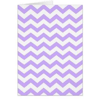 Lilac Chevron Card