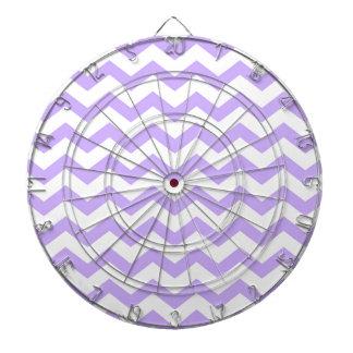 Lilac Chevron Dartboard
