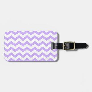 Lilac Chevron Luggage Tag