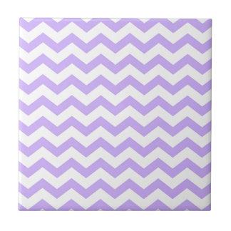 Lilac Chevron Tile