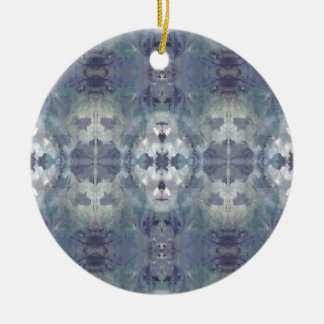 Lilac Chill Pattern Ceramic Ornament