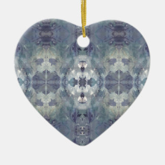 Lilac Chill Pattern Ceramic Ornament