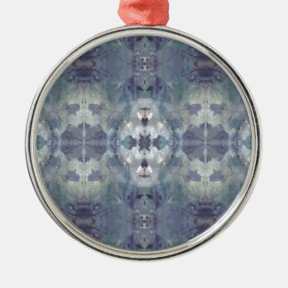 Lilac Chill Pattern Metal Ornament