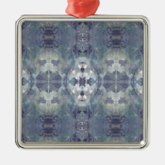 Lilac Chill Pattern Metal Ornament