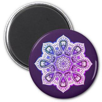 Lilac circular pattern magnet
