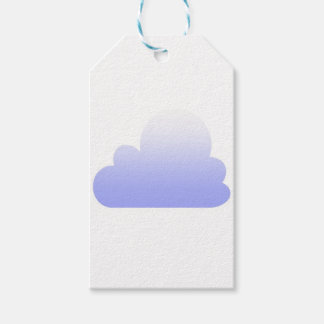 Lilac cloud pattern gift tags