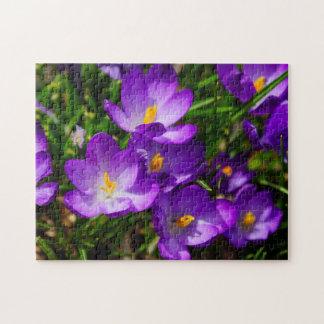 Lilac Crocuses Jigsaw Puzzle