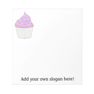Lilac Cupcake - Personalize a Sweet Baking Graphic Notepad