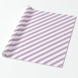 Lilac Diagonal Stripe Wrapping Paper