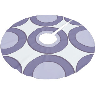 Lilac Dot Brushed Polyester Tree Skirt