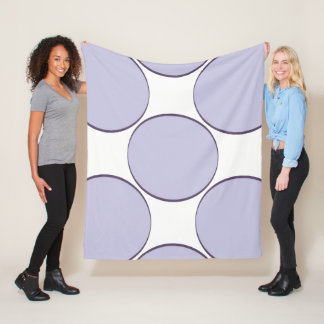 Lilac Dot Fleece Blanket