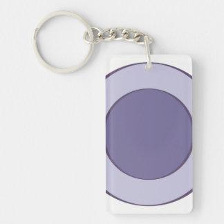 Lilac Dot Keychain
