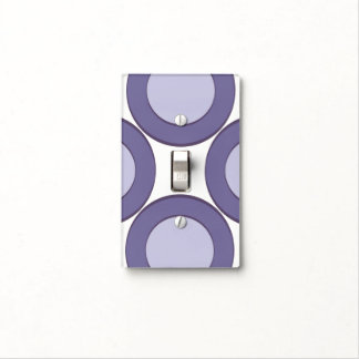 Lilac Dot Light Switch Cover
