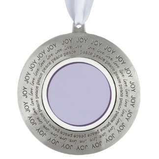 Lilac Dot Pewter Ornament