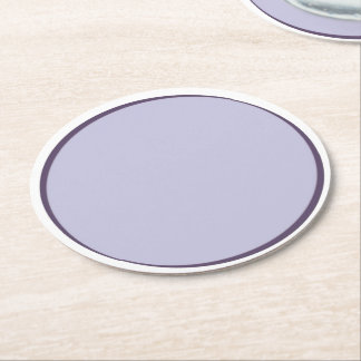 Lilac Dot Round Paper Coaster