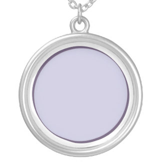 Lilac Dot Silver Plated Necklace