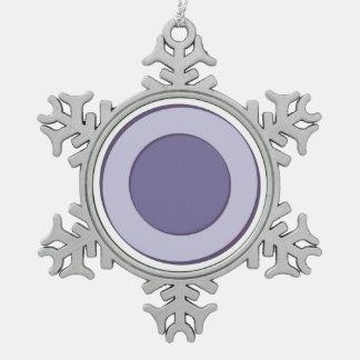 Lilac Dot Snowflake Pewter Christmas Ornament
