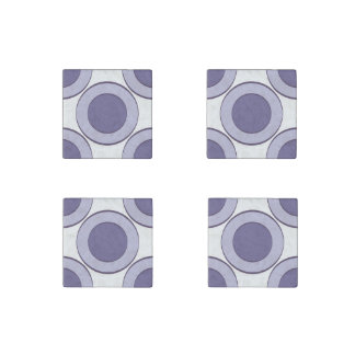 Lilac Dot Stone Magnets
