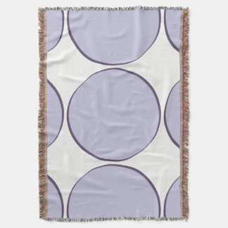 Lilac Dot Throw Blanket