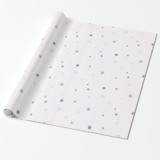 Lilac dot wrapping paper