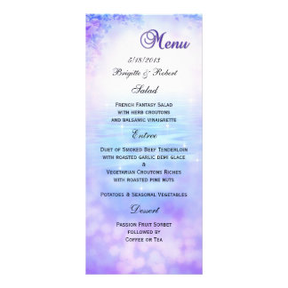 Lilac Dream Wedding Menu Card