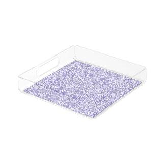 Lilac Elegant flow Acrylic Tray