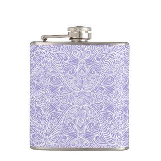 Lilac Elegant flow Hip Flask