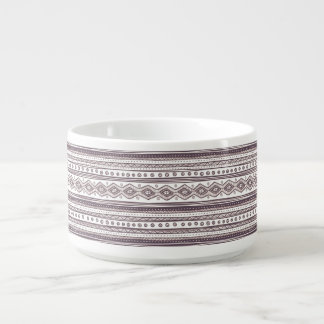 Lilac Ethnic pattern Chili Bowl