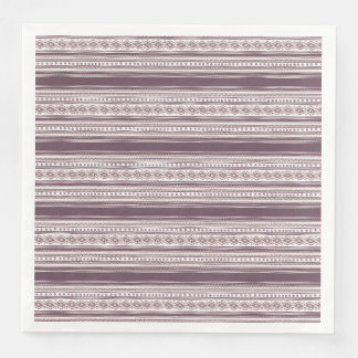 Lilac Ethnic pattern Dinner Paper Napkins