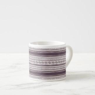 Lilac Ethnic pattern Espresso Mug