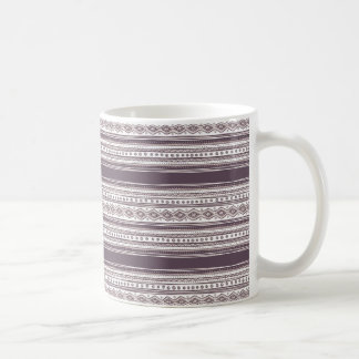 Lilac Ethnic pattern White 11 oz Classic Mug