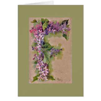 "Lilac ""F"" Note Card GRN"