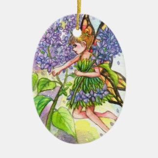 Lilac Fairy Ceramic Ornament