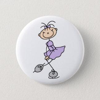 Lilac Figure Skater Girl Button