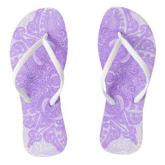 Lilac Fleury Flip Flops