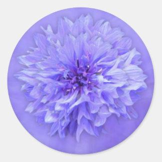Lilac Floral Envelope Seal Round Sticker
