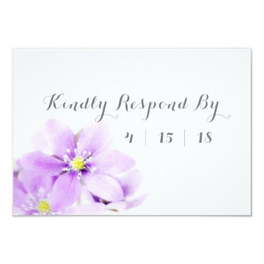 Lilac Floral Kindly Respond Wedding RSVP Card