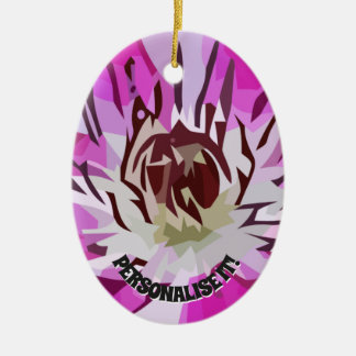 Lilac flower ceramic ornament