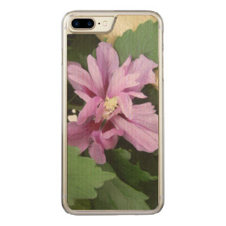 Lilac Flower of China - Hibiscus flower Carved iPhone 8 Plus/7 Plus Case