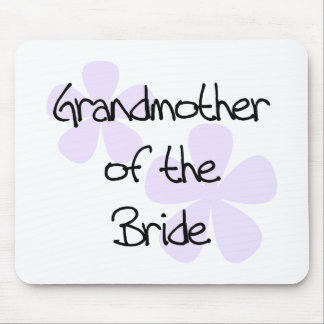 Lilac Flowers Grandmother of Bride Mouse Pad