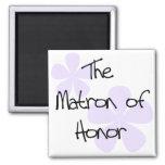 Lilac Flowers Matron of Honour Refrigerator Magnet