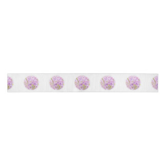 Lilac Flowers Mist Grosgrain Ribbon