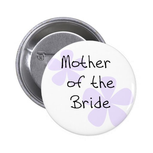 Lilac Flowers Mother of Bride 2 Inch Round Button